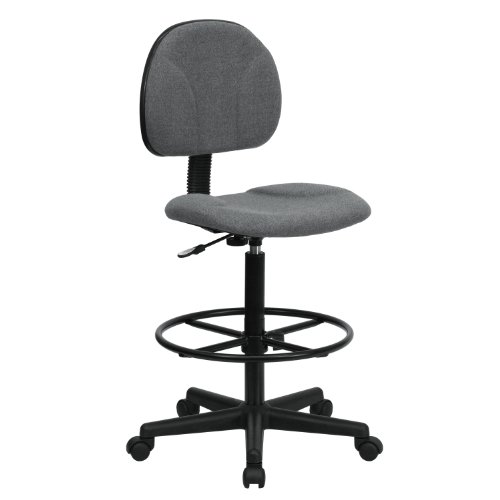 MFO Gray Fabric Ergonomic Drafting Stool (Adjustable Range 26''-30.5''H or 22.5''-27''H) by My Friendly Office