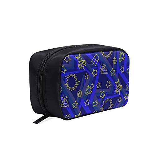(Star Spaceship Unidentified Flying Object Portable Travel Makeup Cosmetic Bags Organizer Multifunction Case Small Toiletry Bags For Women And Men Brushes Case )