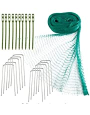 Patioer Anti Bird Netting,Garden Protection Netting, 4 M x 10 M Anti Bird Net Mesh with Cable Ties and U-Shaped Garden Pegs for Seedlings, Vegetables, Flowers, Fruits, Bushes Protection