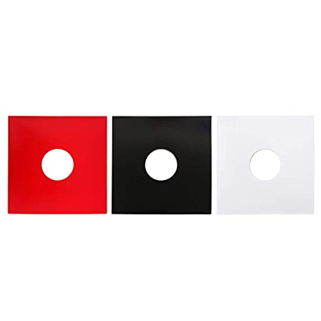 ANG-puneng 10PCS Anti-Static Hard Shell Paper Inner Sleeves Polylined Protectors with Hole for 7//10//12 Inches LP Vinyl Record Album Accessories