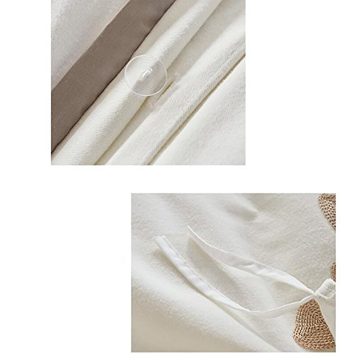 Sheet set 4 Piece,100% cotton Bedding collections sets of four sets Thicken Embellished&embroidered Double bed supplies Bedding bed sheet set Soft and breathable(4 Piece)-A Queen1 by Private home textiles (Image #1)
