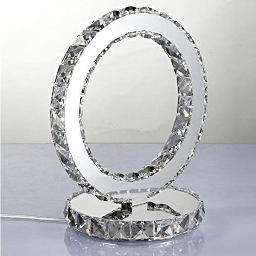 Lampe de chevet /él/égante d/écorative salon DAXGD LED Lampe de Table en cristal 18W lumi/ère blanc froide Lampe de veilleuse id/éale pour Chambre de coucher