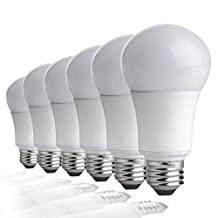 TCP 9W LED Light Bulbs (60 Watt Equivalent), A19 - E26, Medium Screw Base, Non-Dimmable, ENERGY STAR Certified, Daylight (5000K) (Pack of 6)