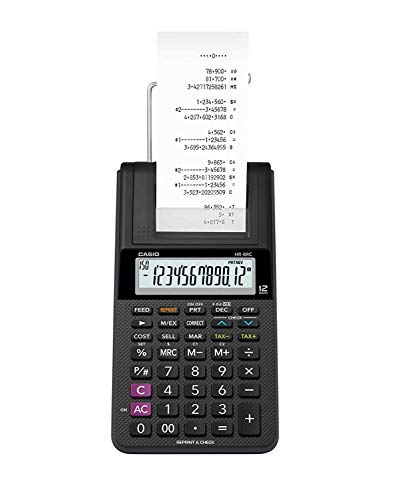 Casio HR-8RC-BK 150 Steps Check & Correct Printing Calculator with Reprint Feature 4