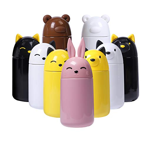 Bottle Face - FACE Thermos Insulation Water Bottle For Girls Stainless Steel Bottle Cute Mugs Pink Rabbit Thermos For Hot&Cold Drinks-10.2 OZ(300 ml) (Pink rabbit)