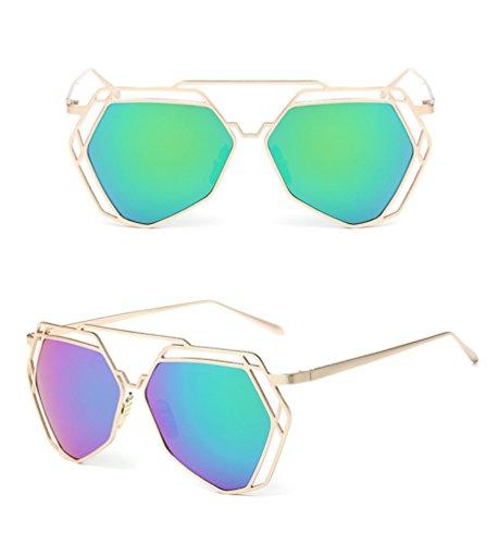 ... Soleil Chat Polarisées De Classique Lunettes Verres Sunglasses  Metallique De Femme Vert Mode Vue YAANCUN Lunette 549951dbd5fa