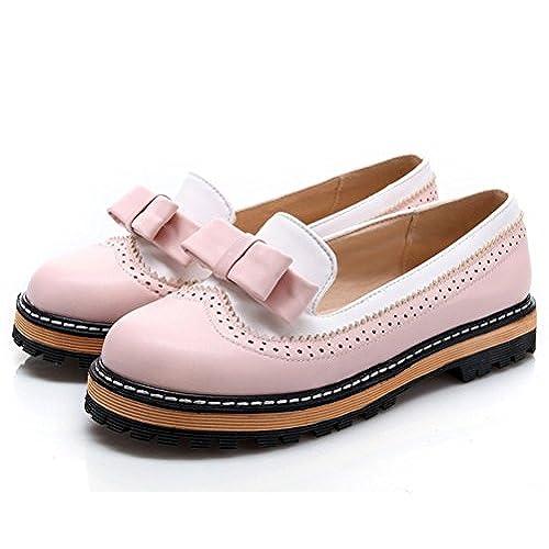 0b0e7e60f3c Mejor HiTime Zapatos Planos con Cordones de Piel Mujer - www ...