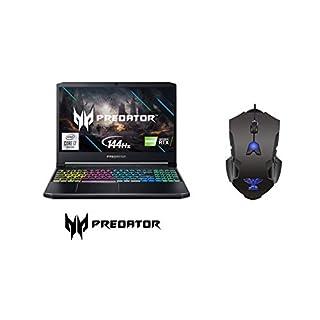 "Predator Helios 300 Gaming Laptop, Intel i7-10750H, GeForce RTX 2060 6GB, 15.6"" Full HD 144Hz 3ms IPS Display, 32GB DDR4 RAM, 1TB NVMe PCIe SSD, RGB Keyboard, Windows 10 Home with JTD Gaming Mouse"