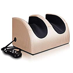 Electric Leg/Foot Massager with Heating,Fully Automatic Deep Kneading Plantar Massage with 3 Strength for Relief Tired Muscles