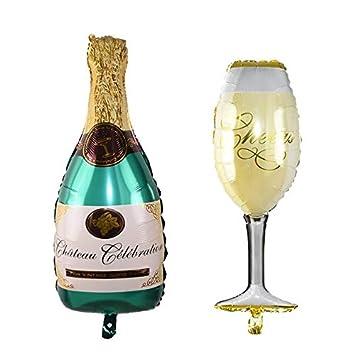 Amazon.com: Decoración de fiesta: botella de vino y whisky ...