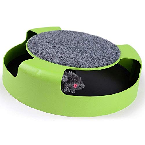 - Homewinner Motion Cat Toys Catch The Mouse Interactive Plush Scratching Claw Mat, Scratch Skill mice Catcher Rat, Interactive and Keeps Your cat intrigued.