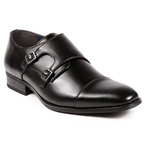 Shoes Uv Cap Uv010 Loafers Slip Dress Monk Signature On Black Toe Double Strap Men's 4Aw7FTq4
