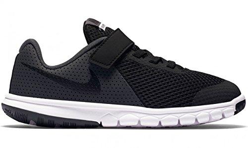 Nike Boys Flex Experience 5 PSV Running Shoes (2 LITTLE KID M, BLACK/BLACK-ANTHRACITE-WHITE)