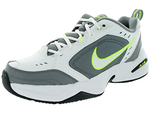 Nike pour homme Leather-and-synthetic Air Monarch IV Chaussures dentraînement White/Cool Grey/Anthracite/Volt