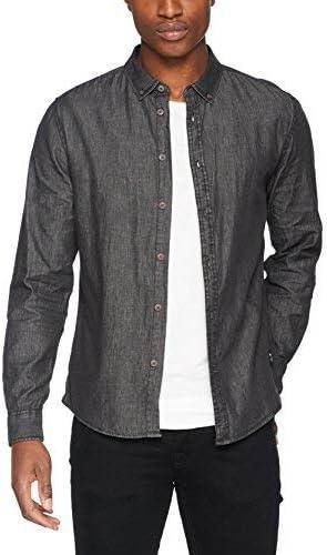 Solid Kahane Camisa Vaquera, Hombre, Negro (Black), NA (Tamaño del Fabricante:S): Amazon.es: Ropa y accesorios