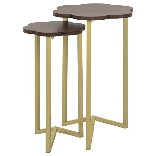 Silverwood FT1263-GLD-RGR Daphne Nesting Accent Tables (2pc), 17'' DIA x 27'' H by Silverwood (Image #1)