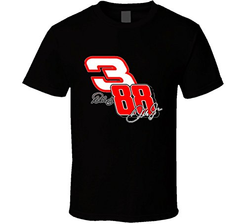 - Dale Earnhardt and Jr Number 3 and 88 NASCAR Racing T Shirt 2XL Black