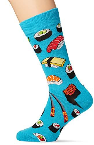 Socksmith Mens Novelty Crew Socks Sushi - Bright Blue, Mens Sock size 10-13