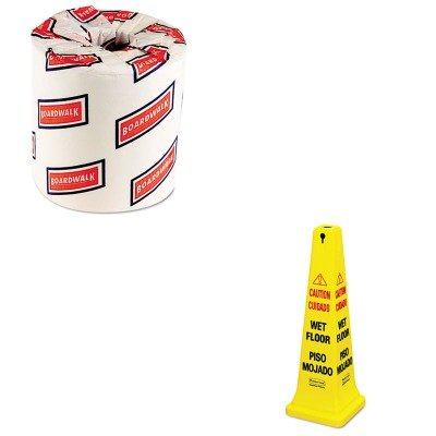 KITBWK6180RCP627677 - Value Kit - Rubbermaid-Yellow Four Sided Safety Cone (RCP627677) and White 2-Ply Toilet Tissue, 4.5quot; x 3quot; Sheet Size (BWK6180)