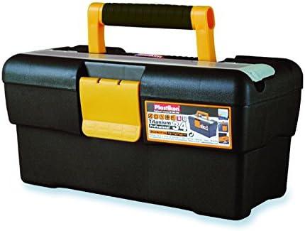 Caja de herramientas plástico – gris – 34 cm: Amazon.es: Hogar