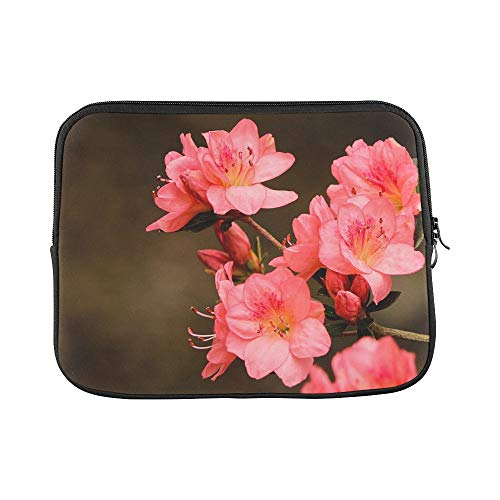 - Design Custom Pink Azaleas Rhododendron Kurume Azalea Coral Bells Sleeve Soft Laptop Case Bag Pouch Skin for MacBook Air 11