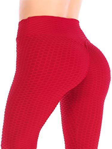 DODOING Womens Ruched Butt Lifting High Waist Leggings Tummy Control Stretchy Skinny Yoga Pants Thights
