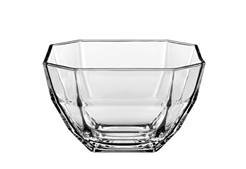 (Barski - European Quality - Glass - Set of 6 - Small Bowls - Octagon - Could Be Used For Small Fruit/Nut/Dessert - Each Bowl is 4.3