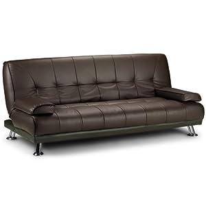 Large Italian Faux Leather 3 Seater Sofa Bed Futon 12002