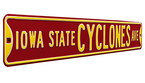 Iowa State Cyclones Ave, Heavy Duty, Steel Street Sign