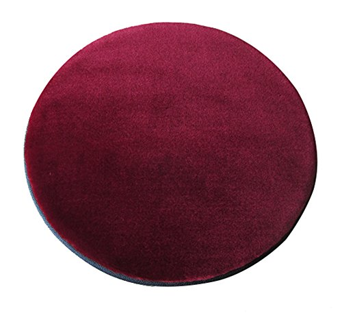 Sigmat Plush Round Bar Stool Pad Soft Chair Cushion with Buckle Burgundy 12