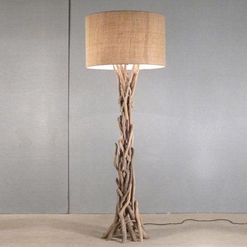 Modern home nautical driftwood floor lamp beachfront decor on sale mozeypictures Images