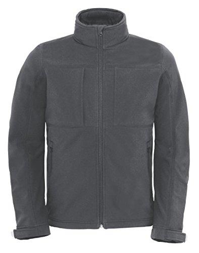 B&C Softshell Hooded Jacket Men BCJM950 / Farbe: Dark-Grey /Größe: S