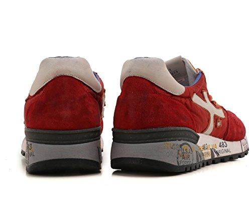 PREMIATA Scarpe Uomo Sneaker Mick_1273 Rosso Arancione Crema