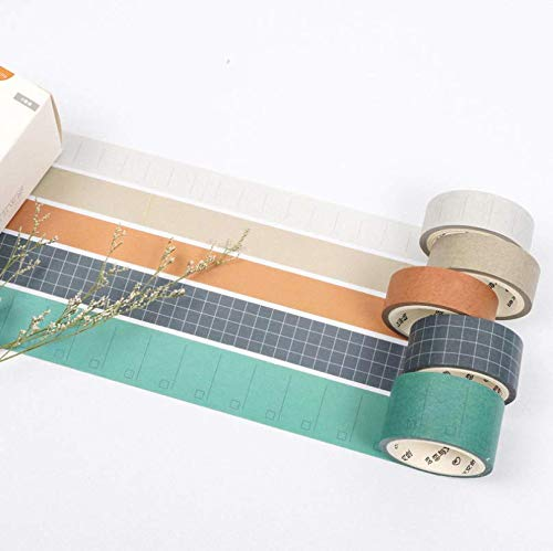 TBblythe 30 Rolls Washi Tapes Pure Color Light Green Brown Paper Small Thin and Wide Masking Tape Sticky Paper Tape for DIY, Decorative Craft, Gift Wrapping, Scrapbook Simple Style Washi Tape
