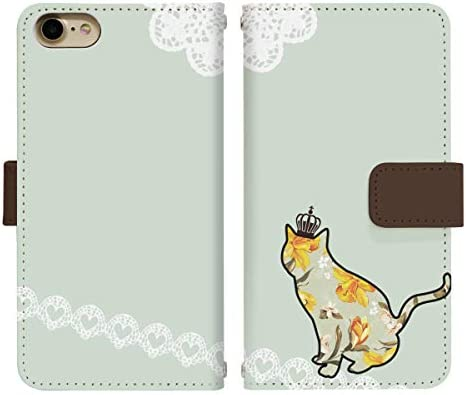 DIGNO V KYV42 ベルト有り 手帳型 スマホケース スマホカバー di125(G) 猫 ねこ ネコ キャット フラワー
