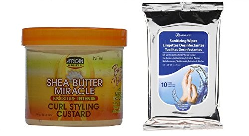 African Pride Shea Butter Miracle Curl Styling Custard 12oz