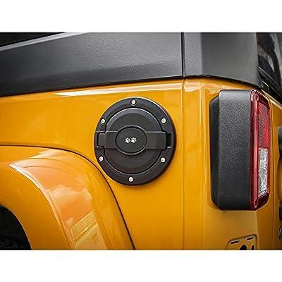 Aukmak Fuel Filler Door Cover Gas Tank Cap Gas Cap Cover for 2007 2020 Jeep Wrangler JK Unlimited 4 Door 2 Door: Automotive