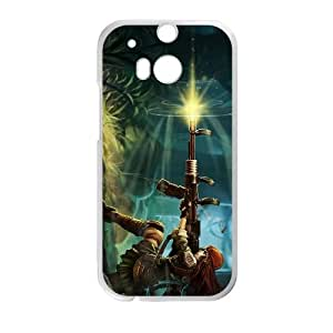HTC One M8 Cell Phone Case White League of Legends Resistance Caitlyn OIW0450980