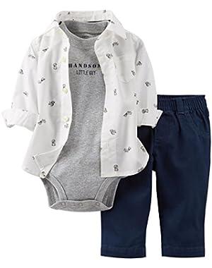 Carter's Baby Boys' 3 Piece Pant Set (Baby) Navy