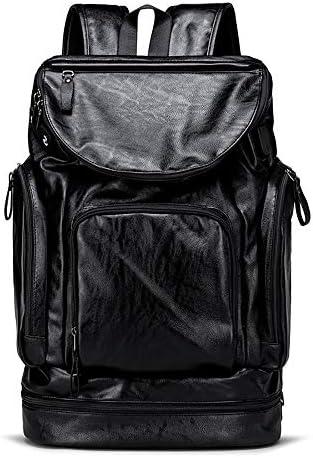 BAACD jugend jungen rucksack gepäck tasche reise männer schwarz leder retro weibliche college high school student freizeit laptop wasserdicht geschenk buch tasche rucksack