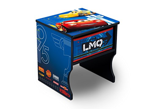 Delta Children Side Table with Storage, Disney/Pixar Cars