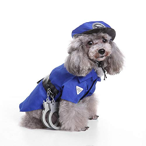 Univegrow Halloween Chritmas Pet Dog Cat Puppy Costumes Clothes Cosplay Costume Outfit (Policeman)