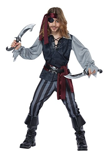 Sea Scoundrel Costumes (Pirate Costume – High Seas Scoundrel Ruthless Rouge Buccaneer Child Extra Small)