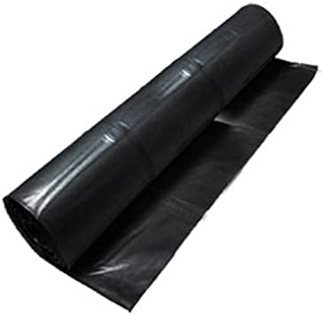Cwc Black Polyethylene Plastic Sheeting 10 Mil 20 X 100 Amazon Com