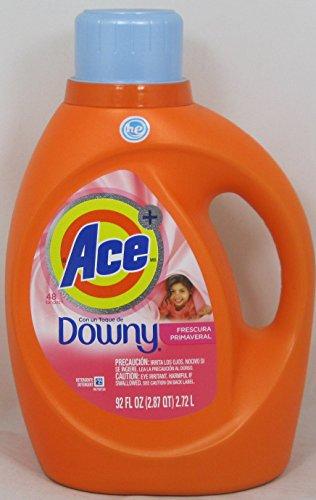 Ace Liquid - Ace Plus a touch of Downy High Efficiency Liquid Laundry Detergent, April Fresh 92 Fl Oz. (48 loads)