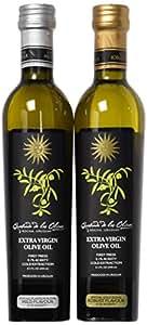 QO Extra Virgin Olive Oil | First Press | Cold Extraction | Robust & Mild Blend | Set of 2 | 8.5 fl-oz (250 ml) each bottle