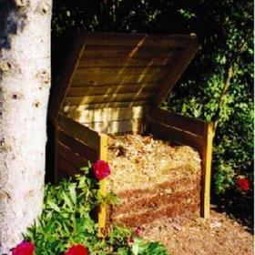 370l-Compostador de madera y acero inoxidable: Amazon.es: Jardín
