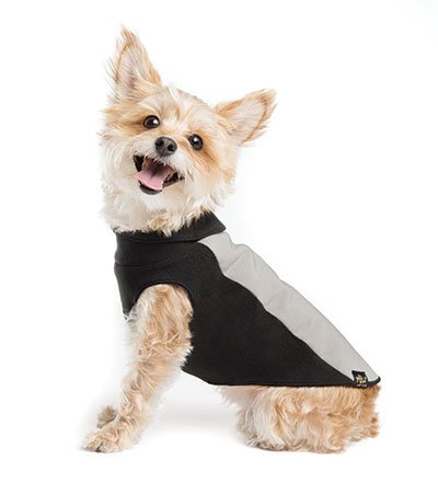 Portland Pullover Dog Jacket – Gray and Black : See description for size