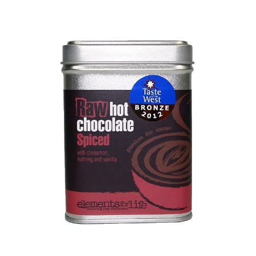 Hot Chocolate Spiced with cinnamon, nutmeg & vanilla | Made with Criollo Raw Cacao & Coconut Blossom Sugar | Dairy, Refined Cane Sugar & Soya free | Vegan Low GI | 175g