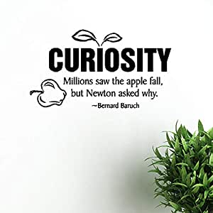 Curiosidad inspirada calcomanía de pared extraíble ...